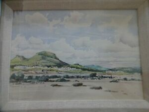 JOHN-ARCHBOULD-Framed-Signed-Water-Colour-Painting-034-Deganwy-Wales-034-27-x-34-cm