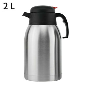 Stainless-Steel-Double-Wall-Insulated-Jug-Vacuum-Thermos-Flask-Teapot-Coffee-G9Z