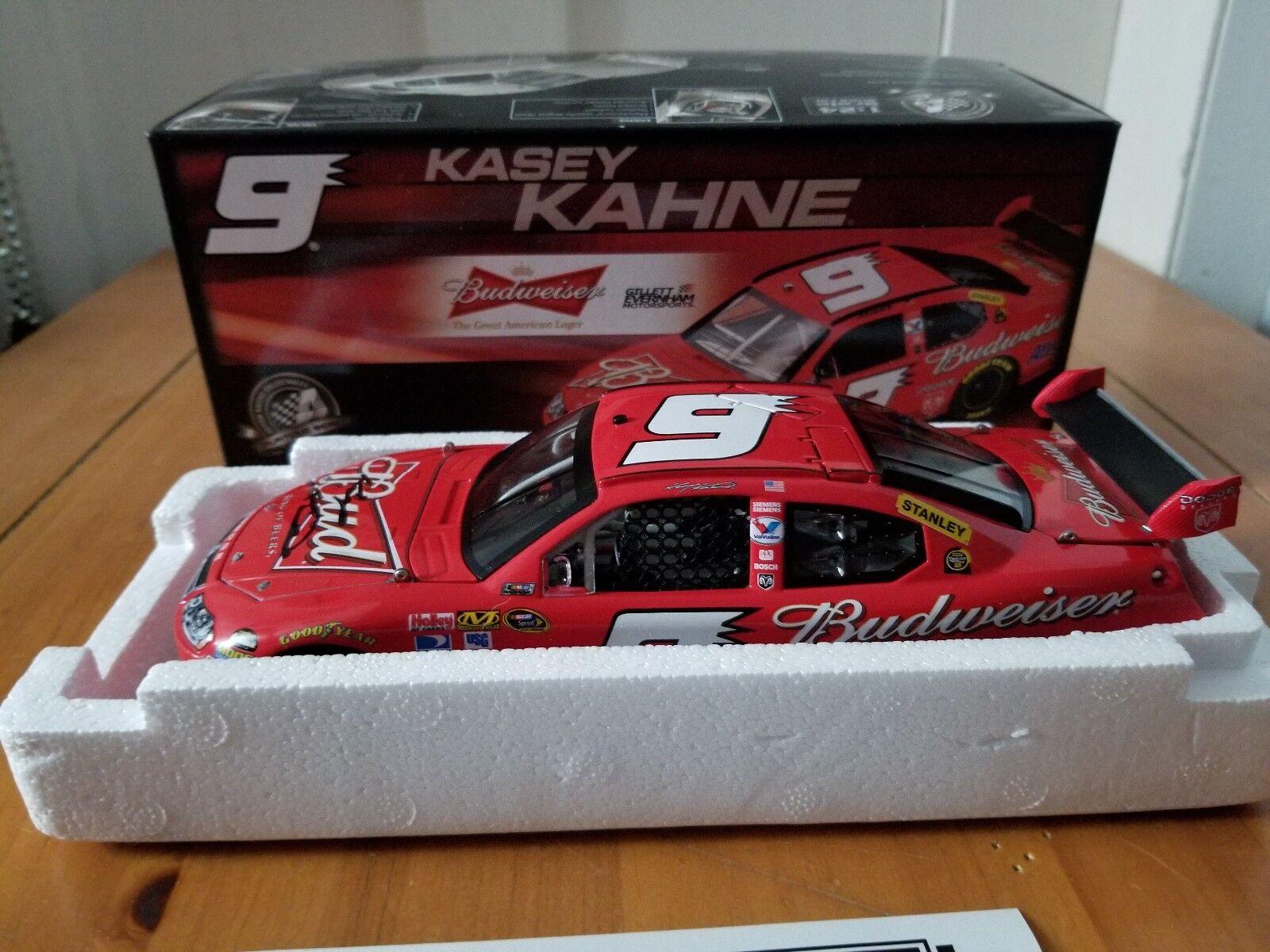 2008 Kasey Kahne  9 Budweiser Dodge Autographed 1 24 with Kahne Store COA Bud