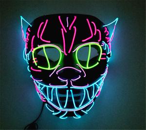unique cat king modeling led cold light glowing multicolor masks