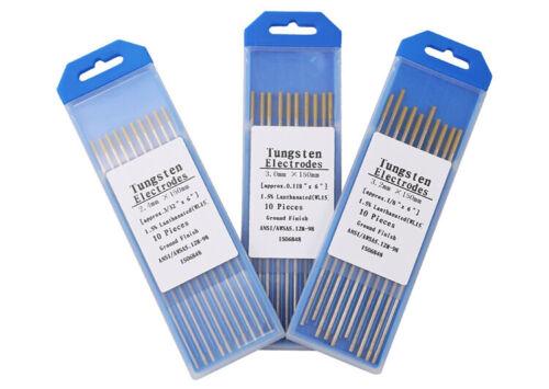 Tig Tungsten Electrode Rod Gold 1.0//1.6 //2.0//2.4//3.0//3.2//4.0*150mm Accessories