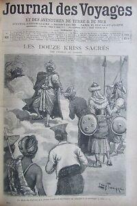 Zeitung-der-Voyages-Nr-921-von-1895-Ozeanien-Konto-12-Kriss-Heiligen-God-Vulkan
