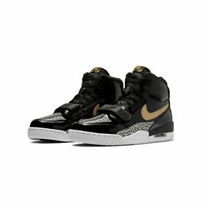 c8bdeba8a94e MEN S AIR JORDAN LEGACY 312 AV3922-007 BLACK METALLIC GOLD-WHITE ...