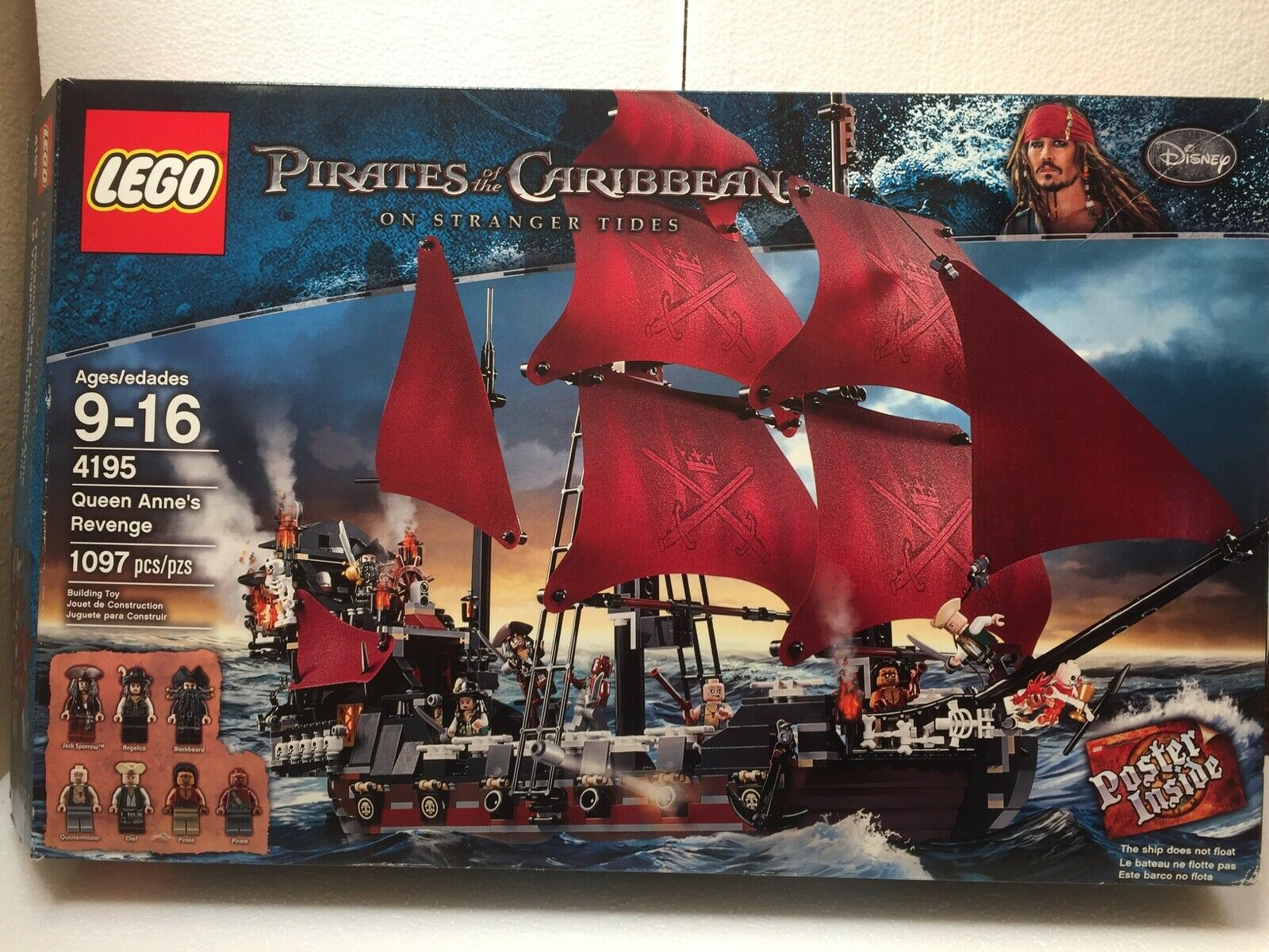 LEGO 4195 4195 4195 Pirates Of The Caribbean - Queen Anne's Revenge 100% complete 2ed3c8