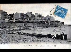 LUC-sur-MER-14-VILLAS-du-QUARTIER-MONTMARTRE-PLAGE-animee-en-1927