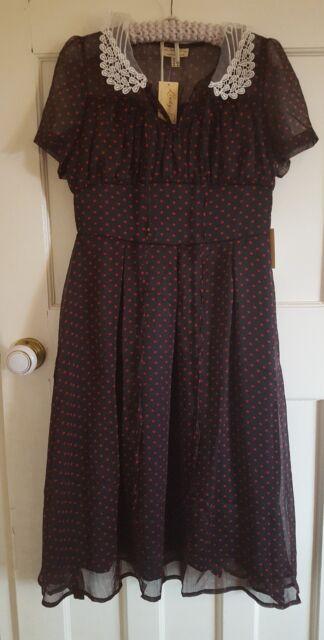 Lindy Bop Coleen Tea Dress Size UK 12 40's/50's Style