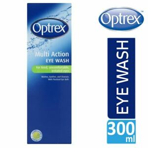 Optrex Multi Action Eye Wash 300ml With Flexiseal For Tired Irritated Eyes