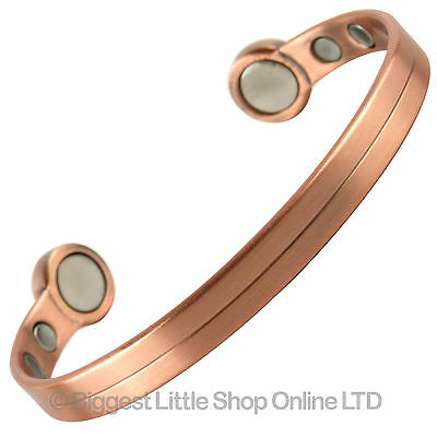 NEW New Style SUPER STRONG COPPER MAGNETIC Bracelet 6 Magnets Health Rare Earth