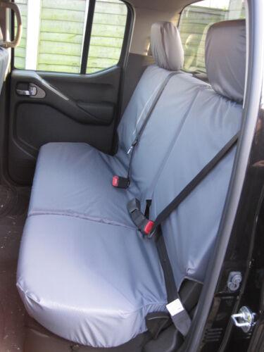 Waterproof Tailored Rear Bench Grey Seat Cover Fits Nissan Navara 2005-2016