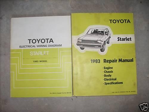 1983 Toyota Starlet Service Shop Repair Manual Set Oem W