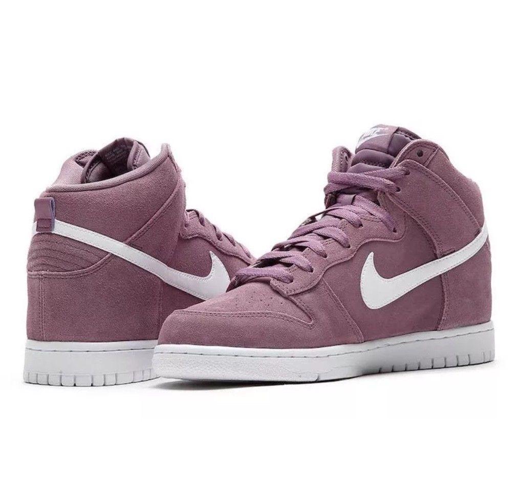 Nueva Nike Dunk Hi zapatos hombres 904233 500 Suede Violet tamaños polvo blanco de muchos tamaños Violet especiales de tiempo limitado 3a78b2