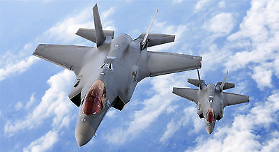 "24/"" x 16/"" Poster F35 Military Fighter Jet Lightning Bomber"