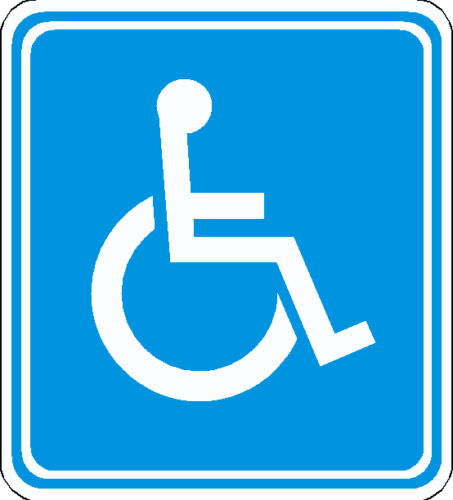 2 X DISABLED MOBILITY BLUE BADGE  VINYL STICKERS SIGNS 110mm x 100mm