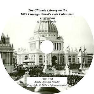 43-Books-DVD-Ultimate-Library-on-1893-Chicago-World-s-Fair-Columbian-Exposition