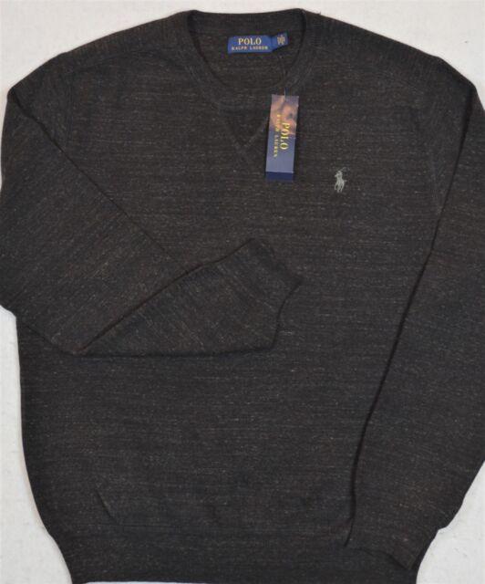 Polo Ralph Lauren Sweater Crewneck Pullover Black Heather M Medium ... 4e6b4e9b5cf9