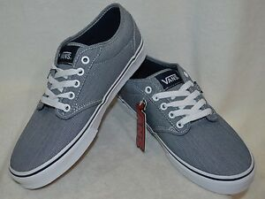 2c77a6c25a Vans Men s Atwood Text Mix Navy   White Skate Shoes - Size 8.5   12 ...