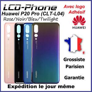 Vitre-arriere-Hauwei-P20-Pro-Noir-Bleu-Twilight-Aurora-Rose-Avec-Logo-Adhesif