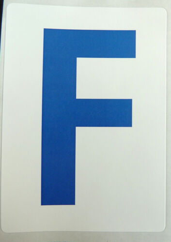 """Plastic Labels 115mm 4½/"""" Blue on White Sticky Letters Lettering Stickers"""