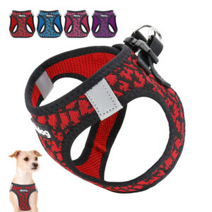 Extra-Small-Dog-Harness-Breathable-Soft-Mesh-Puppy-Cat-Pet-Vest-Pink-Blue-Purple