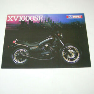 DernièRe Collection De Prospectus/brochure Yamaha Xv 1000 Se/xv 750 Se-stand 1983!-afficher Le Titre D'origine Acheter Maintenant