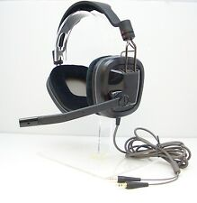 Plantronics GameCom 380 Closed Ear Stereo Analog Computer Gaming Headset - BLACK