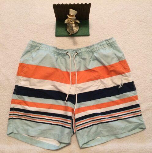 Choose SZ//color Details about  /Nautica Men/'s Quick Dry Rugby Stripe Series Swim T