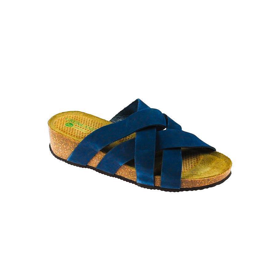 Pascoli da donna donna donna sandalo in pelle blu | Fai pieno uso dei materiali  | Gentiluomo/Signora Scarpa  9ad749