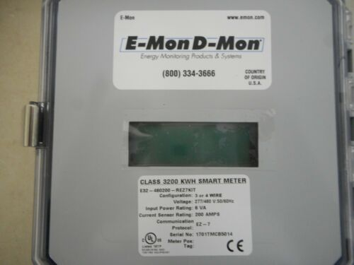 E-MON D-MON ELECTRIC SUBMETER E-32-480200-REZ7KIT CLASS 3200 KWH SMART METER 200