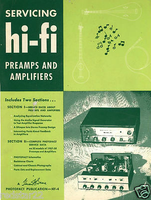 Servicing Hi-Fi Preamps and Amplifiers - 1950's Great Book on CD