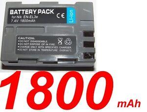 Batterie-Pour-NIKON-ENEL3E-EN-EL3E-NIKON-D900-1800-mAh