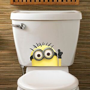 MINION PEEPER Funny Toilet Bathroom Vinyl Decal Sticker