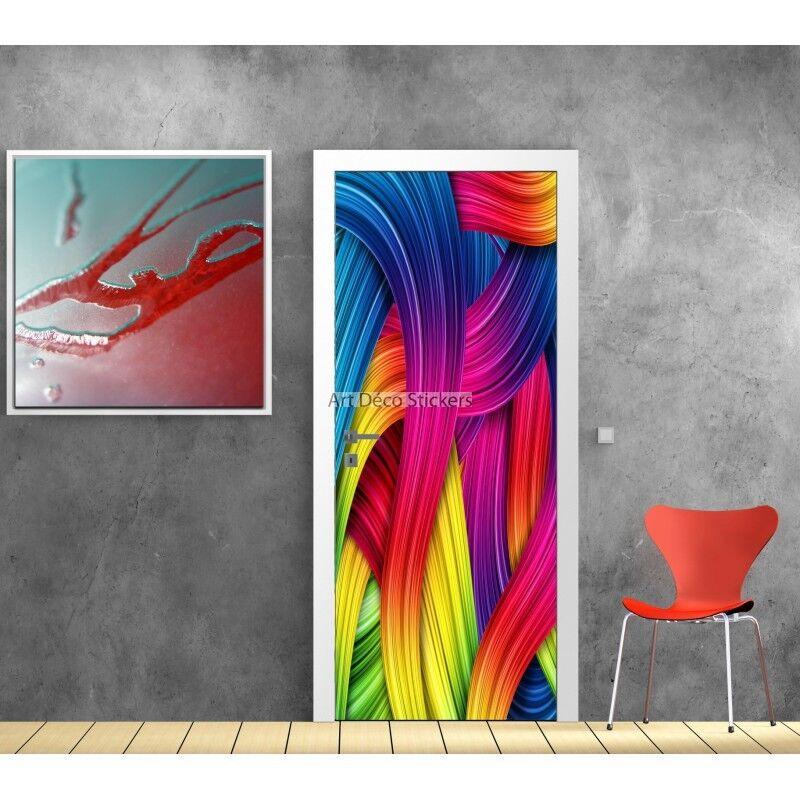 Aufkleber Tür Deko Farben Ref 580 580