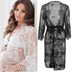 Maternity-Lace-Gown-Pregnant-Women-Photography-Photo-Props-Clothes-Fancy-Dress
