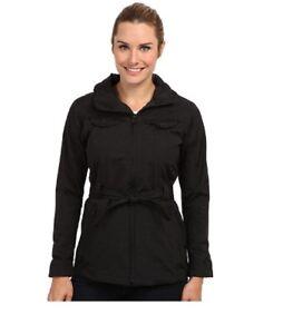 25fc76b8d Details about The North Face Women's K Jacket belted rain coat parka Black M