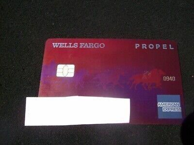 AMERICAN EXPRESS-WELLS FARGO PROPEL METAL CREDIT CARD  eBay
