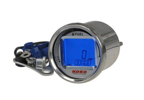 Nuevo Koso d55 Tachometer LCD Type Speed odo fuel JIS puerto predeterminado Yamaha