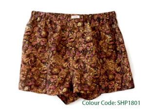 Silk-Boxer-Short-Men-Underwear-Underpants-Soft-Brief-Trunk-Black-Khaki-S-M-L-XL