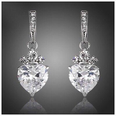 Made Using Swarovski Crystals The Lovisa Silver Heart Earrings S18 ...