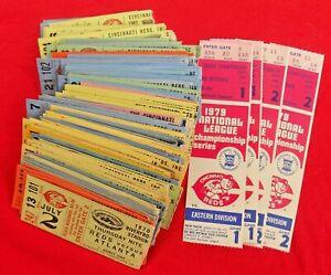 115-VINTAGE-1970-039-S-80-039-S-CINCINNATI-REDS-RIVERFRONT-STADIUM-MLB-TICKET-STUB-LOT