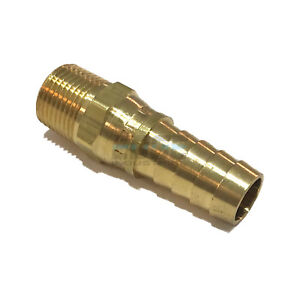 3//8 HOSE BARB X 1//2 MALE NPT Brass Pipe Fitting NPT Thread Gas Fuel Water Air