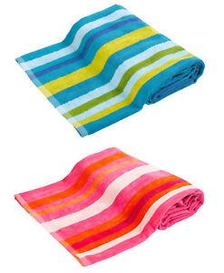 Toalla-Bano-Playa-100-Algodon-Velveton-multicolor-de-Rayas-Vacaciones-DEPORTE