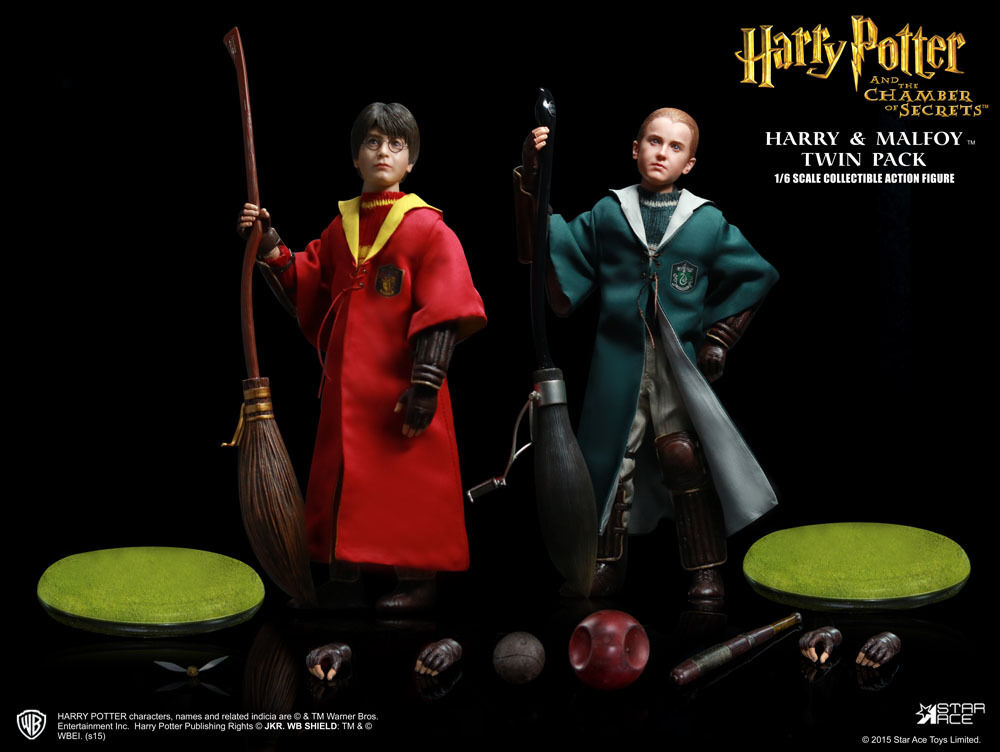 HARRY POTTER MY FAVOURITE MOVIE  POTTER & MALFOY QUIDDITCH STAR ACE TOYS