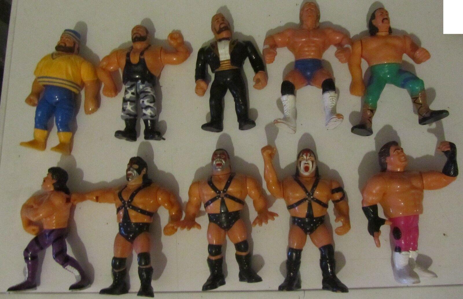 Lot  05 10 Wrestler years 90 Action Figures Vintage Wrestling WWF FREE costs