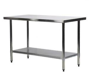 X Stainless Steel Kitchen Work Table Commercial Restaurant - 6 foot stainless steel prep table