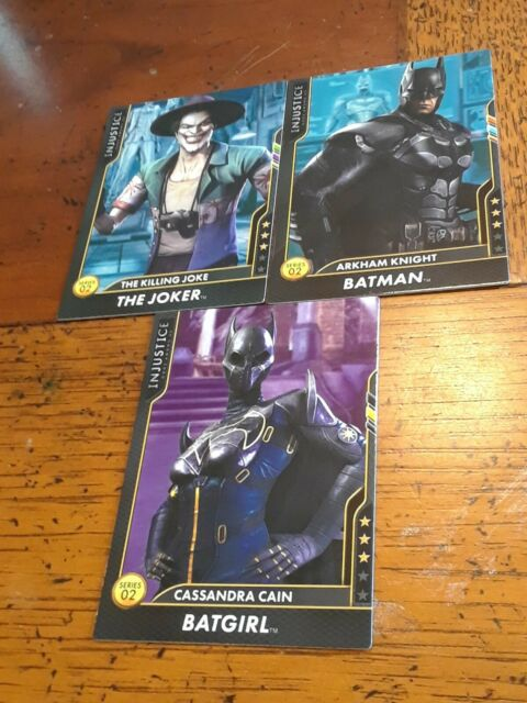 Injustice Arcade Game Card Series 2 Mystery Cards Lot of 3 Batman Batgirl Joker