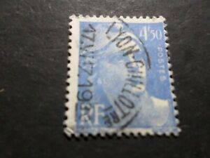 France-1945-47-Stamp-718A-Marianne-Gandon-Seal-round-Obliterated-VF-Used