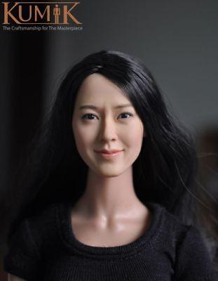 1:6 KUMIK Accessory Action Figure Girl Actress Female Head Sculpt CG CY KM15-16