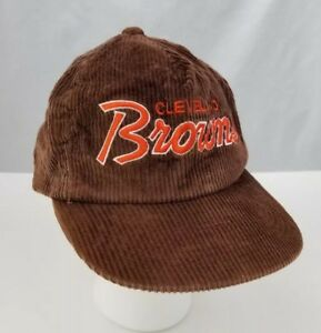 Image is loading Vtg-Cleveland-Browns-Baseball-Cap-Trucker-Hat-Corduroy- e5b0db13662