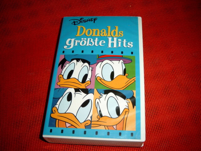 """Video """"Donalds größte Hits"""", Walt Disney, VHS, ohne Altersbeschränkung"""