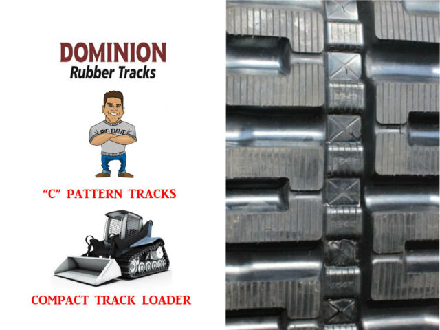 (2) NEW DOMINION RUBBER TRACKS, C PATTERN, 320X49X86 BOBCAT T180 OR T190